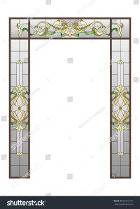 Doorway Stainedglass Stock Vector 363679757 - Shutterstock
