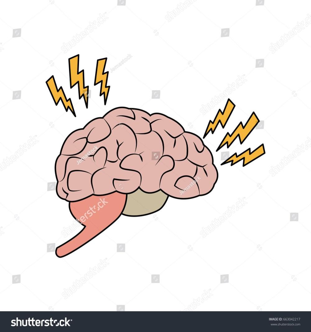 medium resolution of drawing brain human pain sick organ