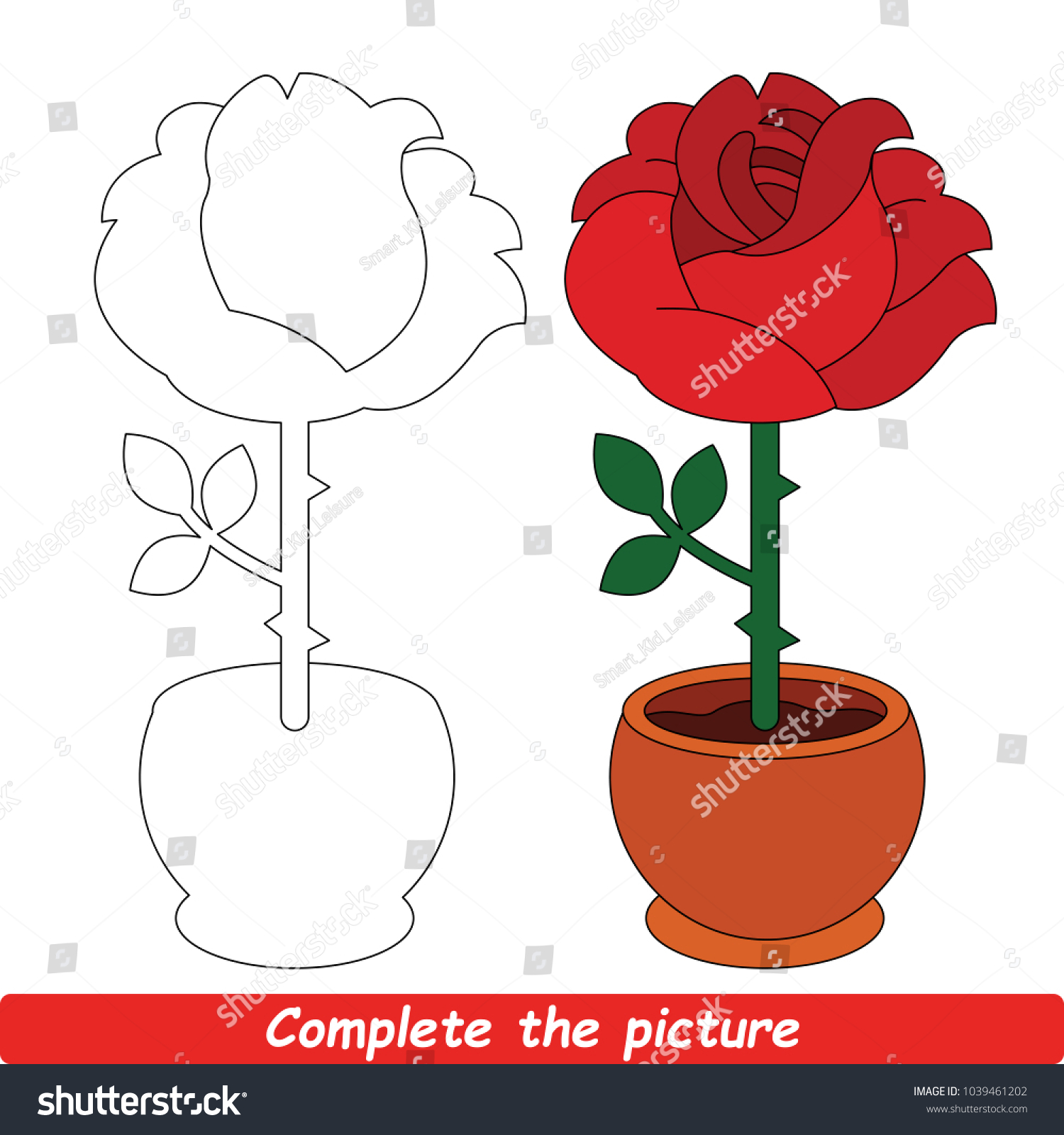 Simple Red Rose Drawing Easy