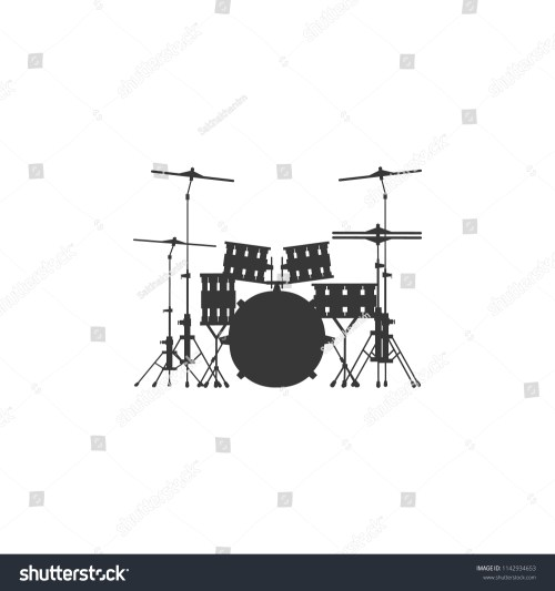 small resolution of drum set icon on gray background round shadow