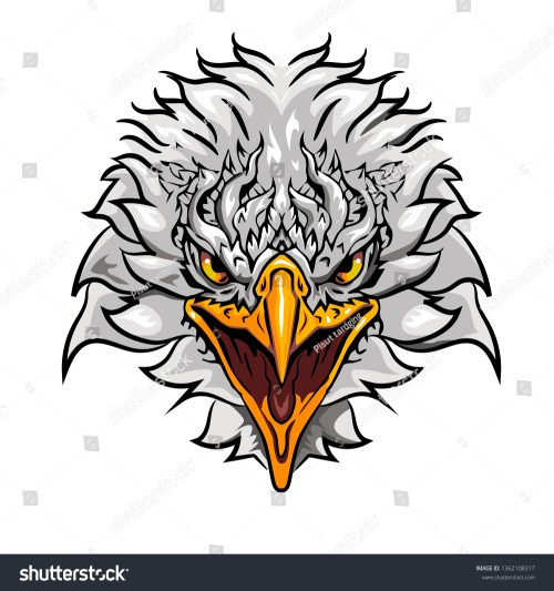 small resolution of eagle face vector clipart
