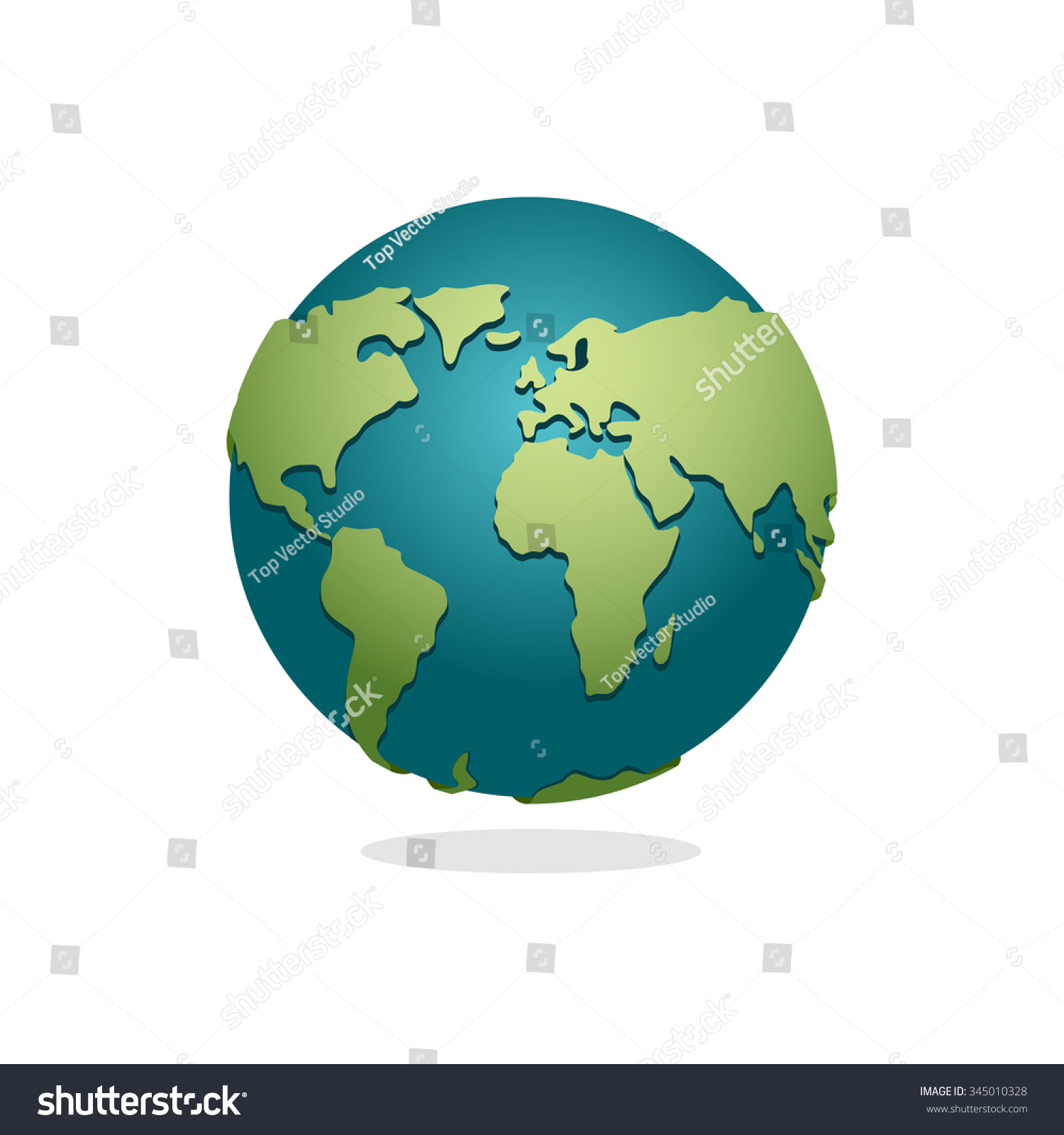 Earth Planet Sign Globe Space Earth Stock Vector
