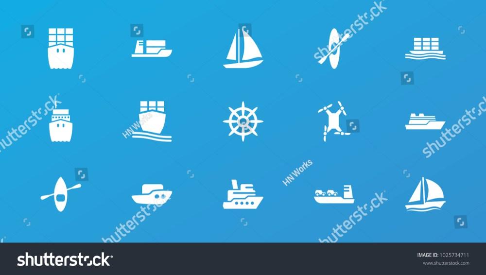 medium resolution of editable 15 boat icons boat ship helm cargo ship rowing