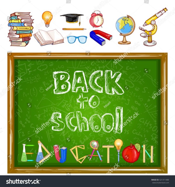 Education Background School Tools Stock