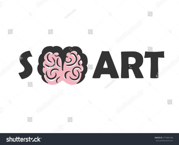 Education Art Logo Vector Design Template. Brain