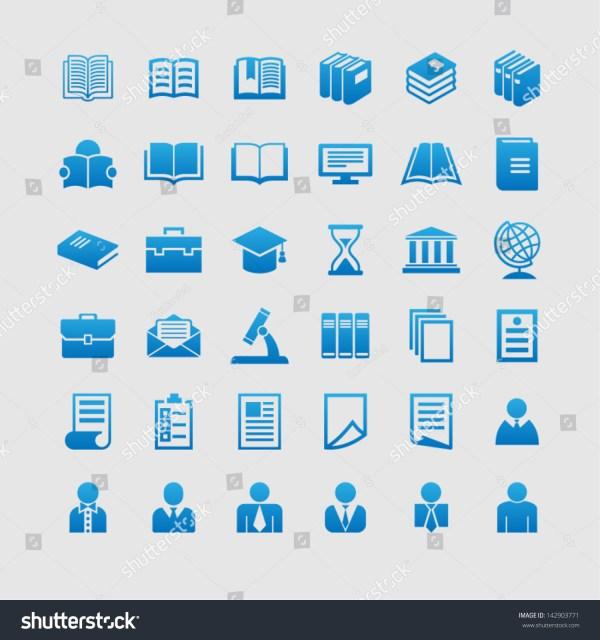 Education Symbols Stock Vector 142903771 Shutterstock