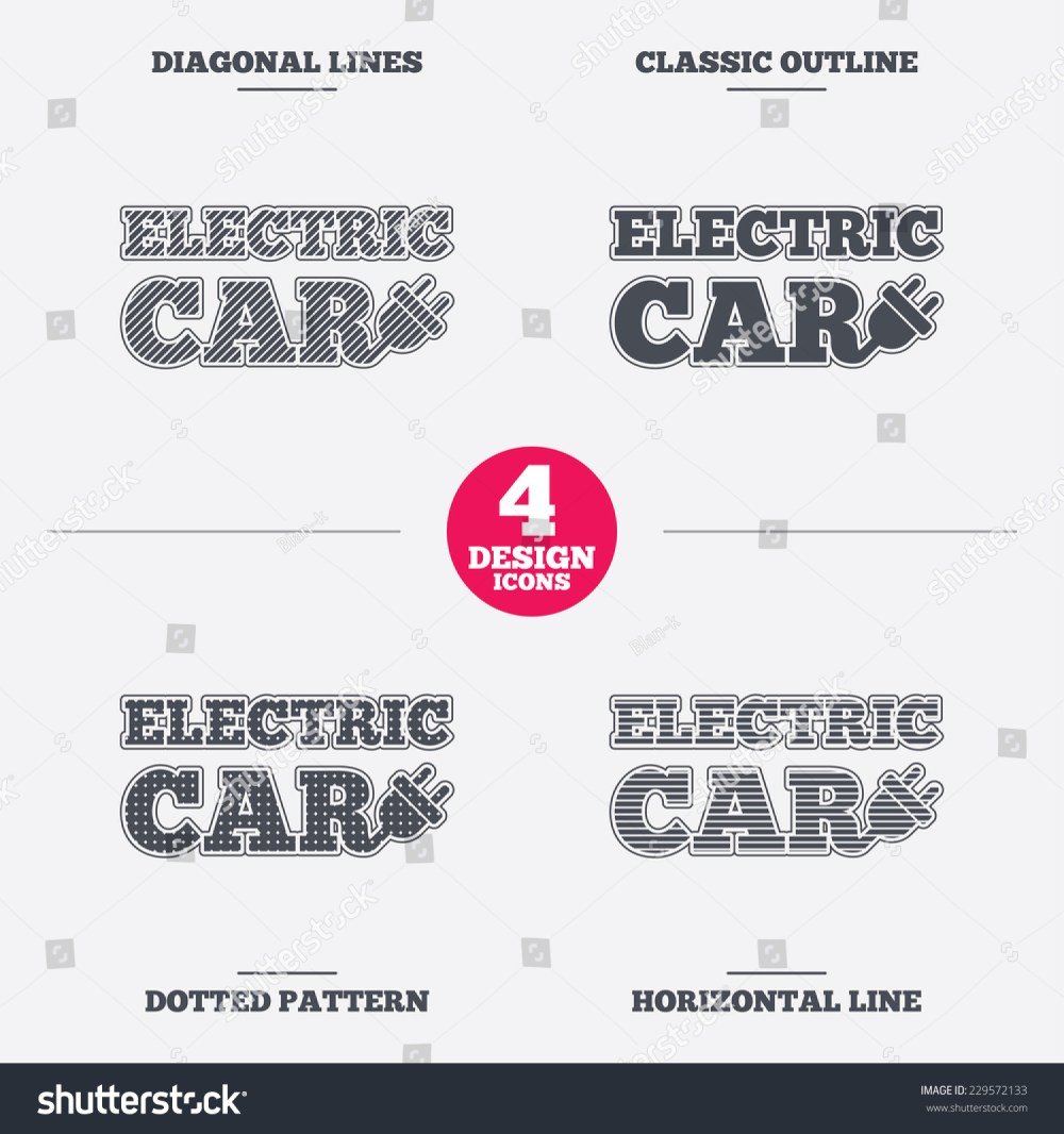 medium resolution of electric car sign icon electric vehicle transport symbol diagonal and horizontal lines classic