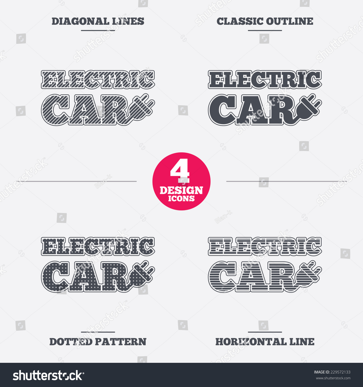 hight resolution of electric car sign icon electric vehicle transport symbol diagonal and horizontal lines classic