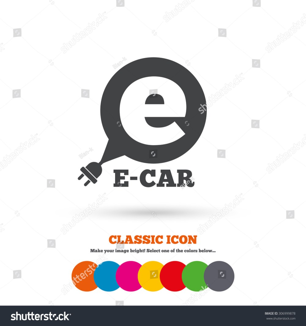 medium resolution of electric car sign icon electric vehicle transport symbol speech bubble classic flat icon