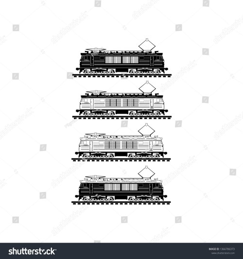 small resolution of electric locomotive icon train vector illustration on white background