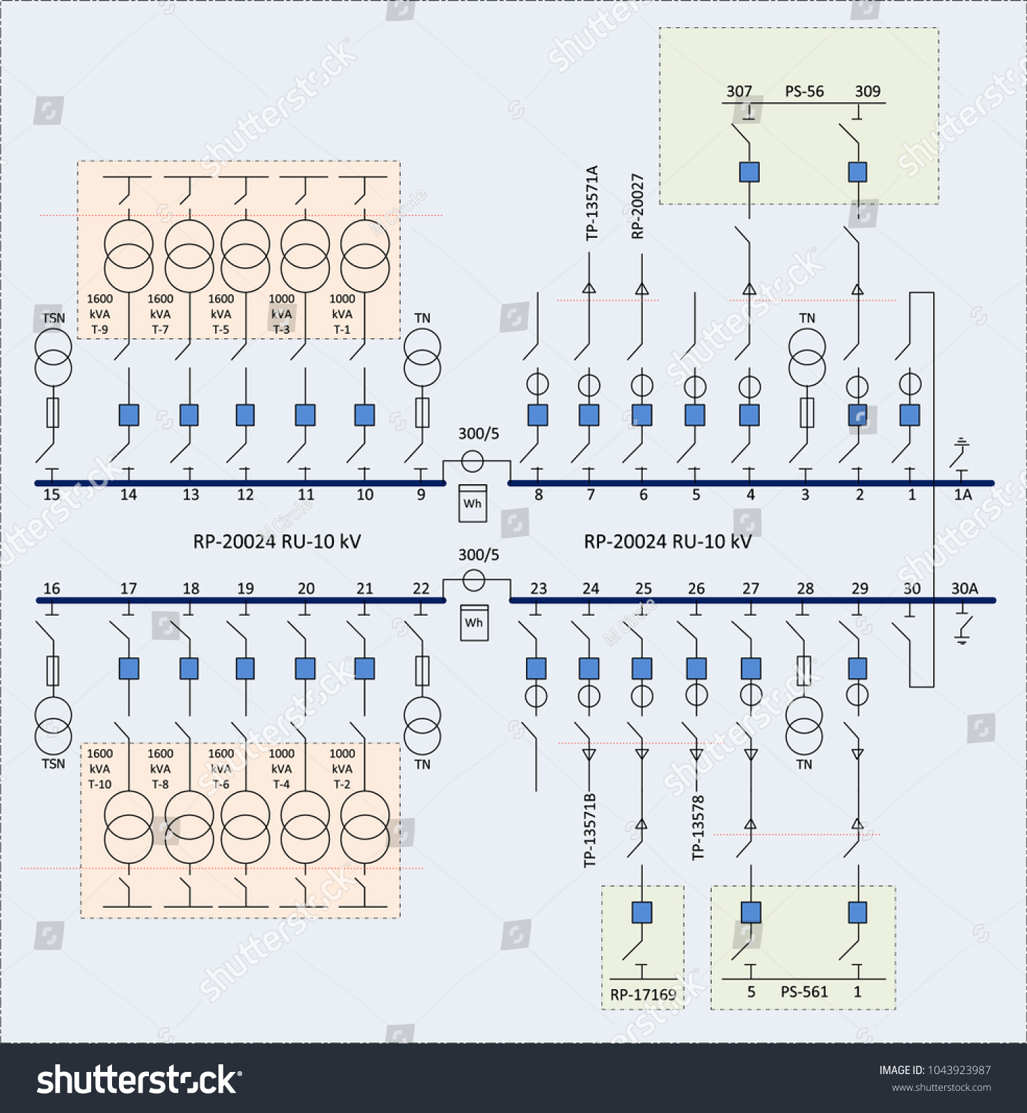 hight resolution of electric wiring diagram for power transformers vector
