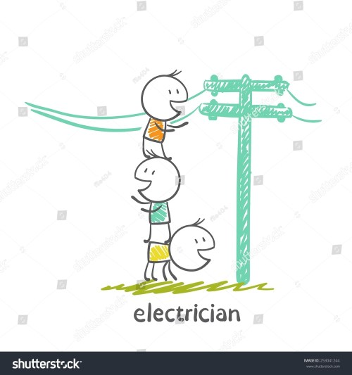 small resolution of electrical repair electrical wiring in the street illustration