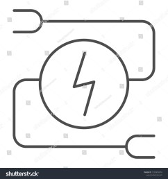 electrical wiring thin line icon car adapter vector illustration isolated on white automobile cable [ 1500 x 1600 Pixel ]