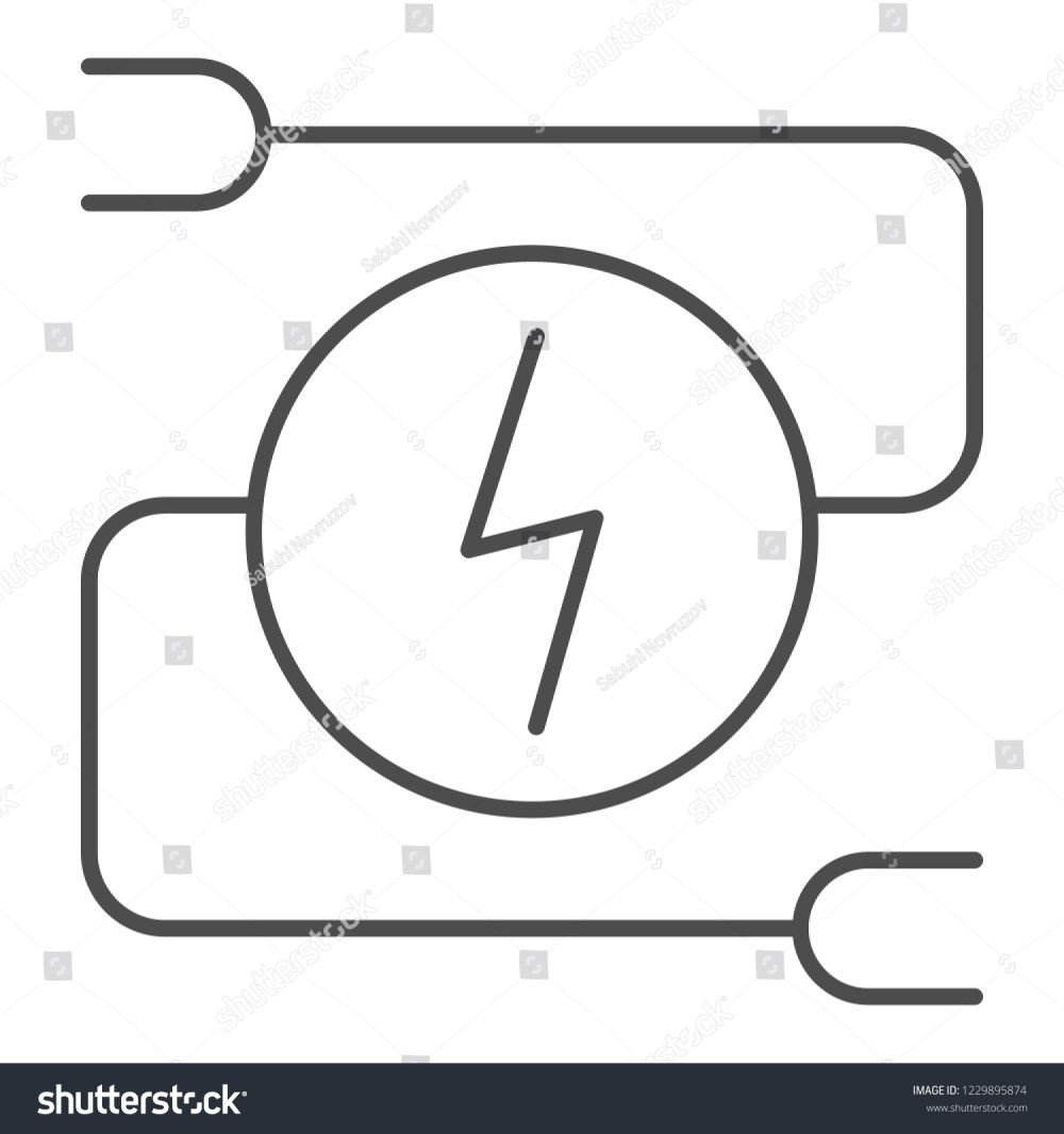 medium resolution of electrical wiring thin line icon car adapter vector illustration isolated on white automobile cable