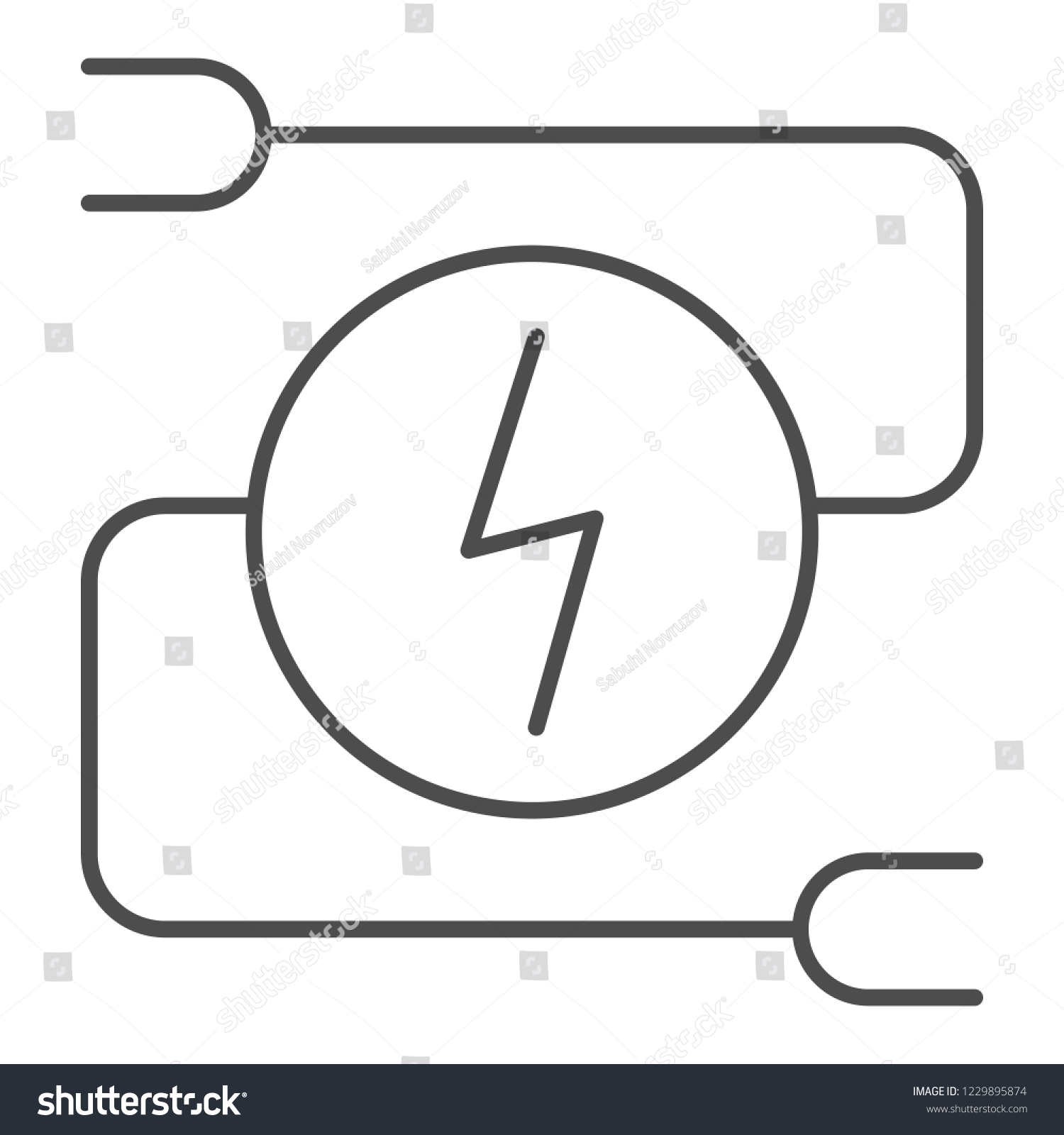hight resolution of electrical wiring thin line icon car adapter vector illustration isolated on white automobile cable