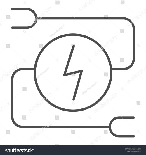 small resolution of electrical wiring thin line icon car adapter vector illustration isolated on white automobile cable