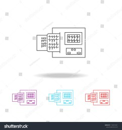 electrocardiogram device and heart pulse on list line icon elements of medical tools in multi colored icons premium quality graphic design icon  [ 1500 x 1600 Pixel ]