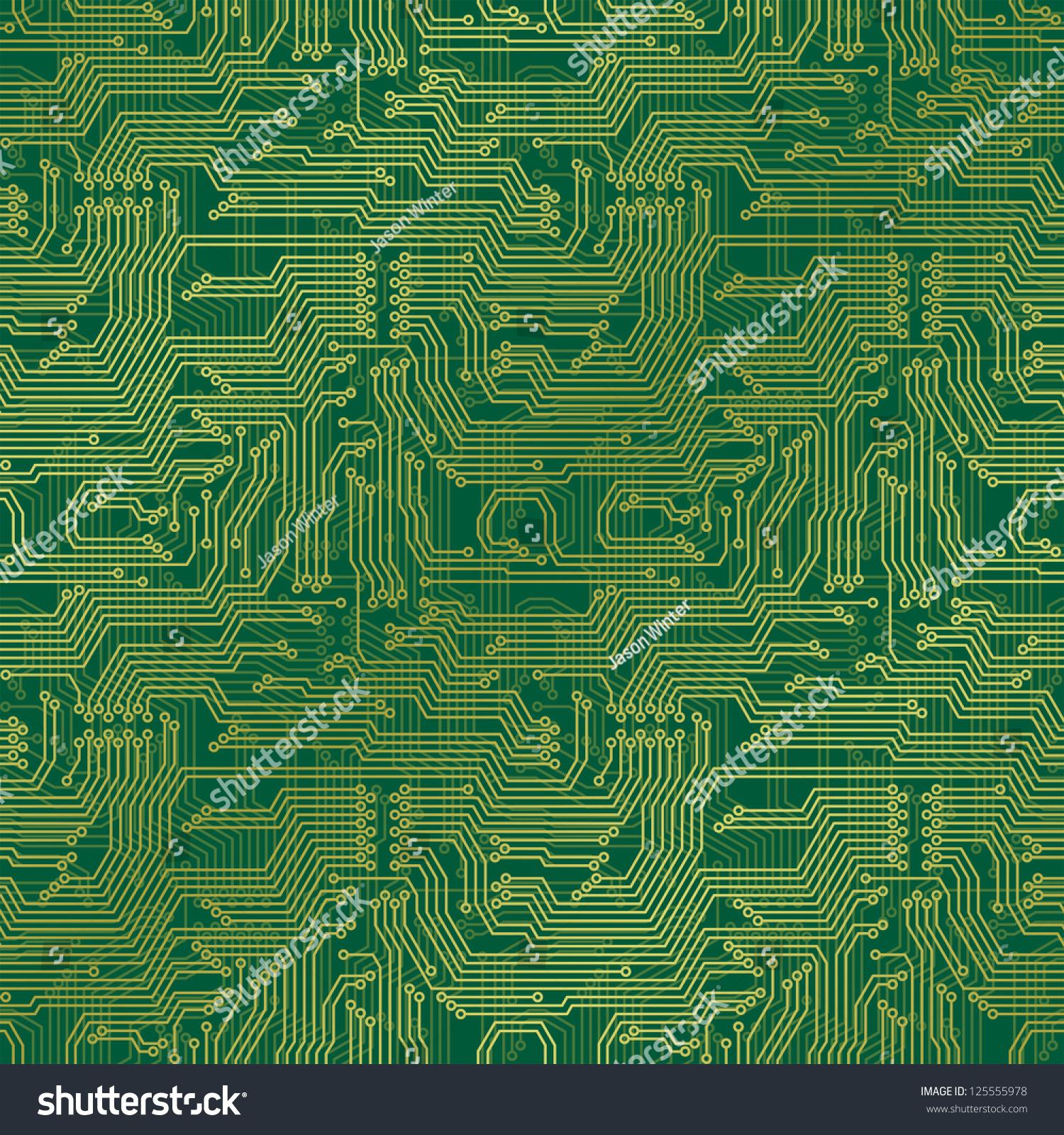 Circuit Board Seamless Pattern Stock Vector