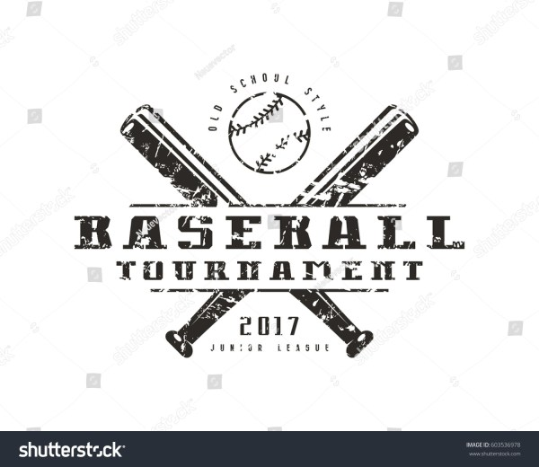Emblem Baseball Tournament Graphic Design Tshirt Stock Vector 603536978 - Shutterstock