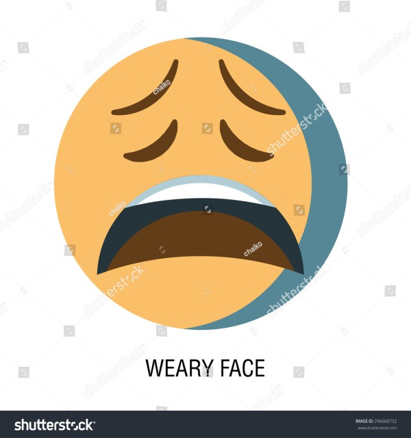 Tired Face Emoji - Year of Clean Water