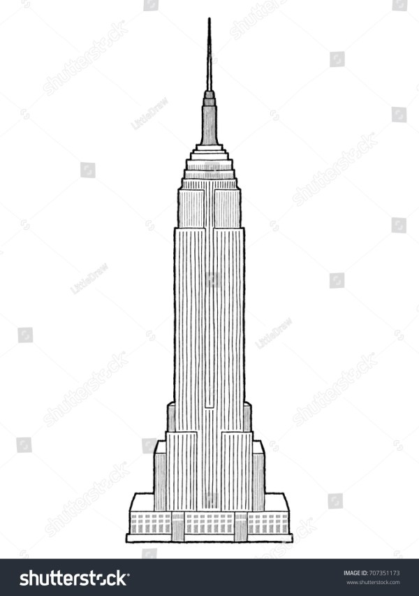 New York Empire State Building Cartoon