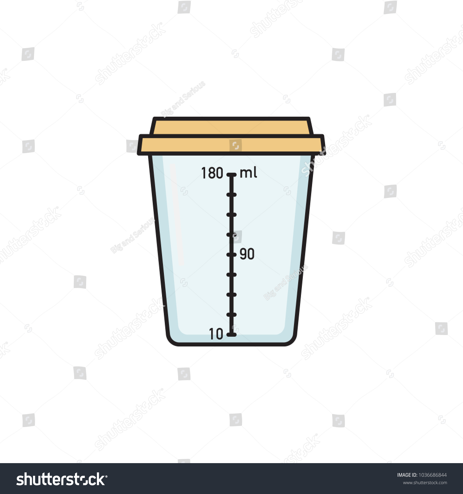 hight resolution of empty sterile plastic container for urine specimen sample collection medical exam urinalysis flat vector illustration isolated on white background