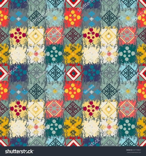 Ethnic Seamless Pattern. Tribal Art Boho Print Abstract