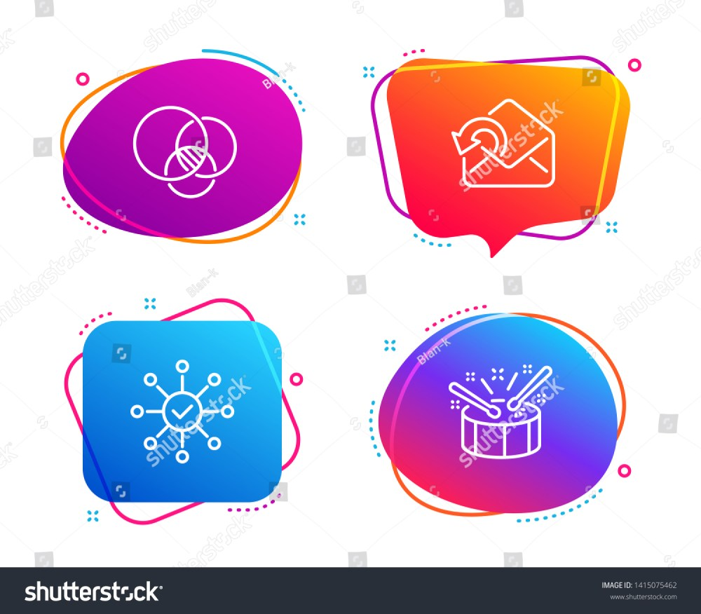 medium resolution of euler diagram send mail and survey check icons simple set drums sign relationships