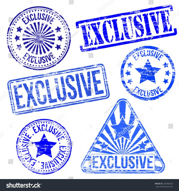 Exclusive Stamps Different Shape Vector Rubber Stamp