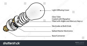 Exploded Diagram Of A Cfl (Compact Fluorescent Lamp