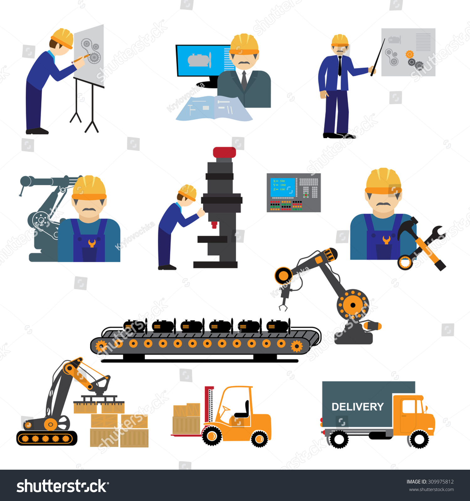 Factory Production Process Design Manufacture Assembly