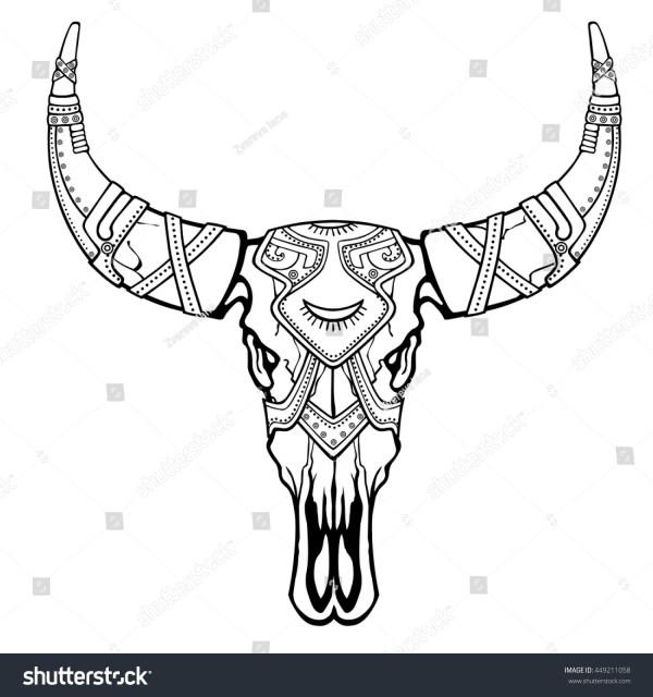 20 Cow Skull Coloring Pages Pictures And Ideas On Weric
