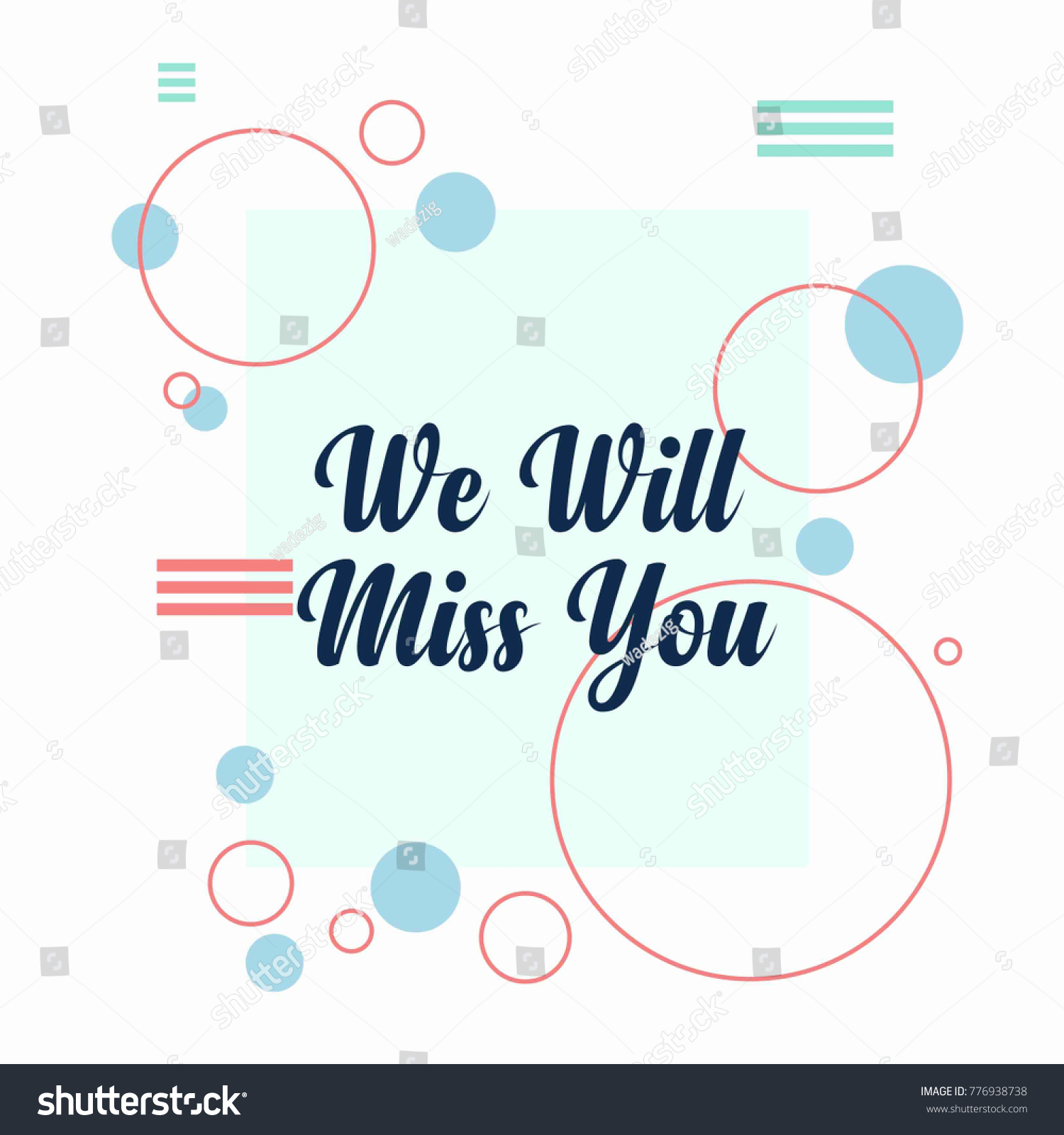Farewell Card. We Will Miss You Template