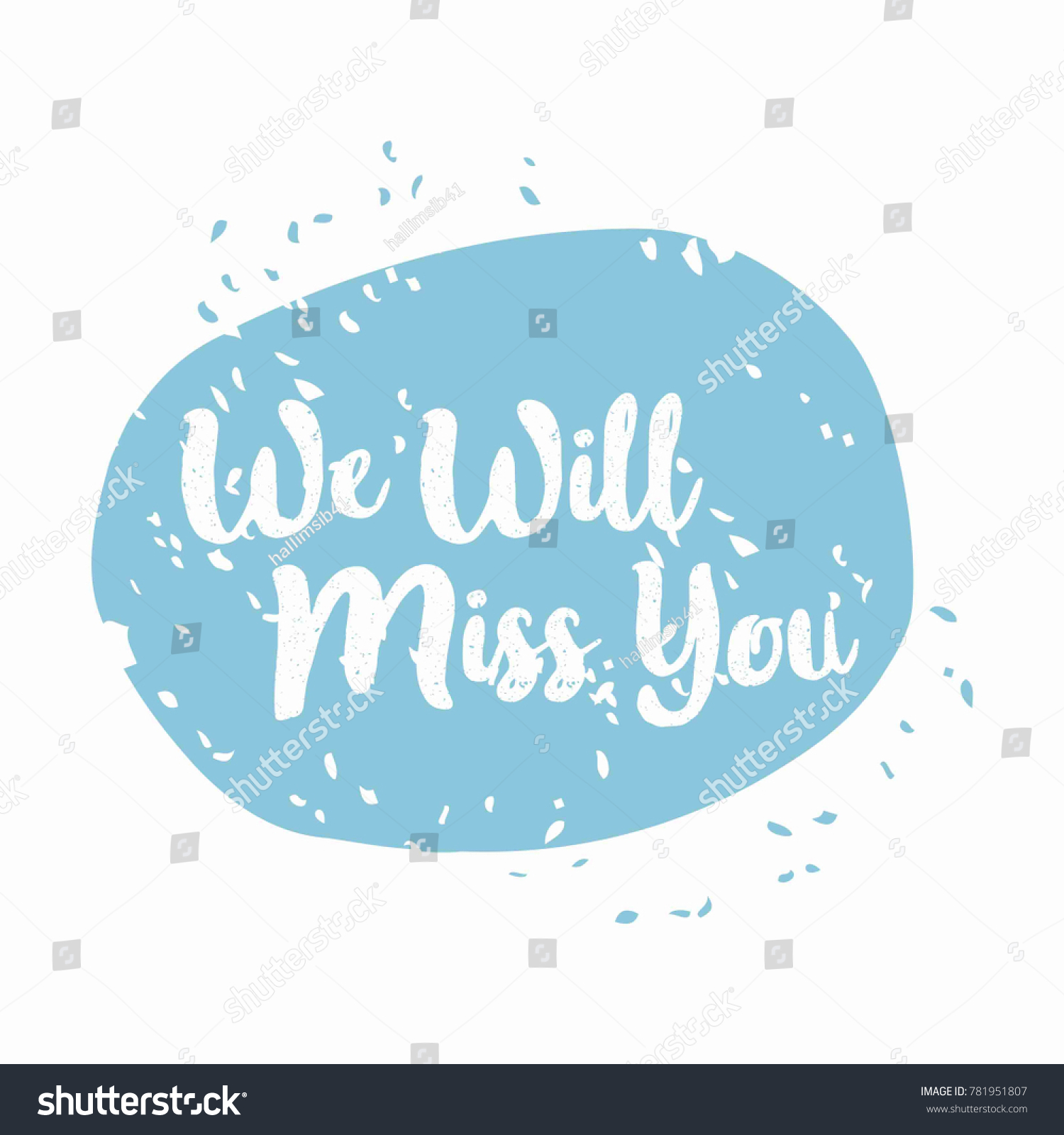 Farewell Party. We Will Miss You. Invitation Card Template