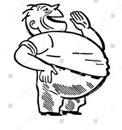 fat man laughing retro clipart illustration [ 1200 x 1600 Pixel ]