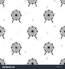 Ferris Wheel Icon Black Style Isolated Stock Vector