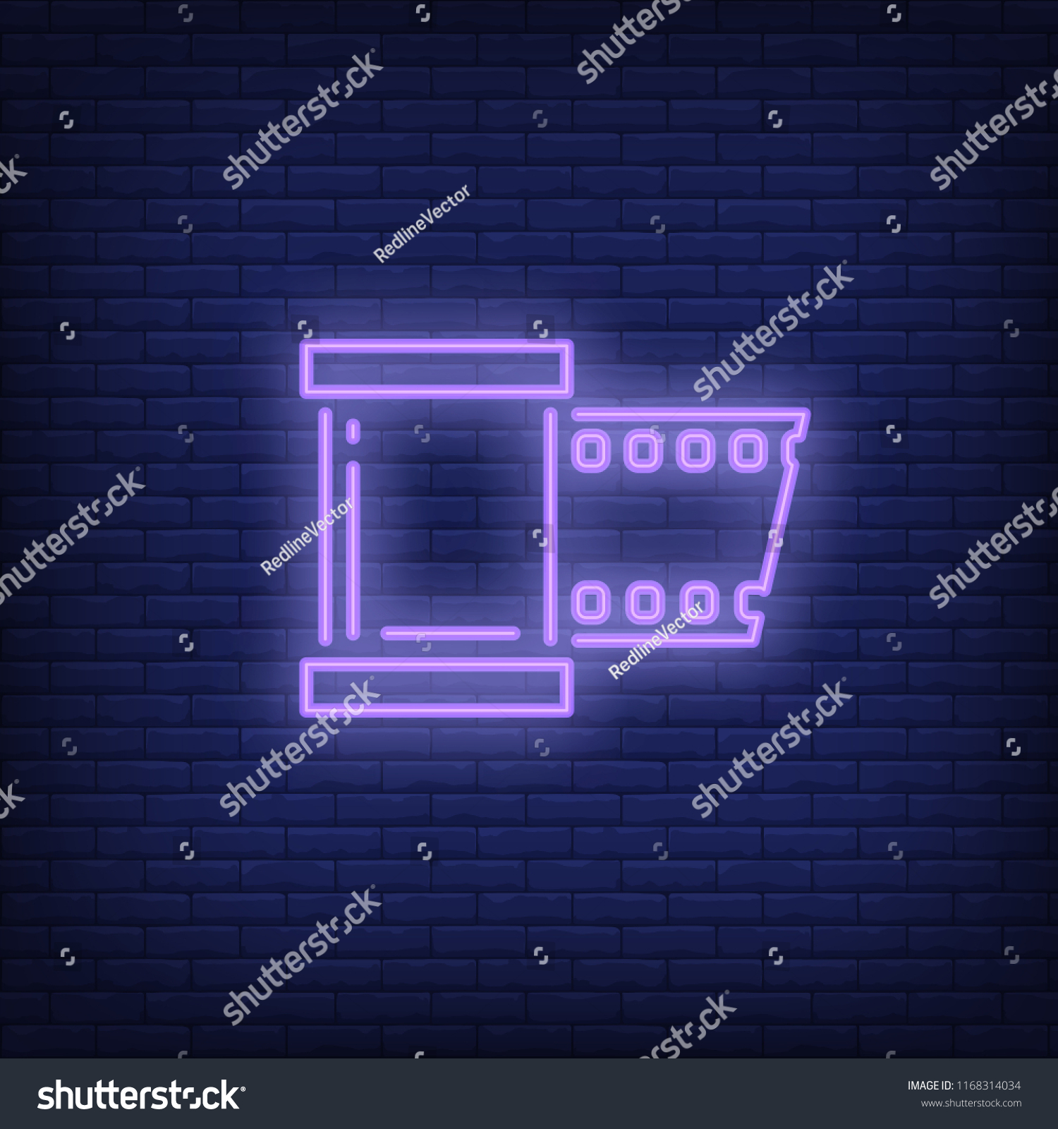 hight resolution of film strip neon sign luminous signboard with roll film night bright advertisement vector