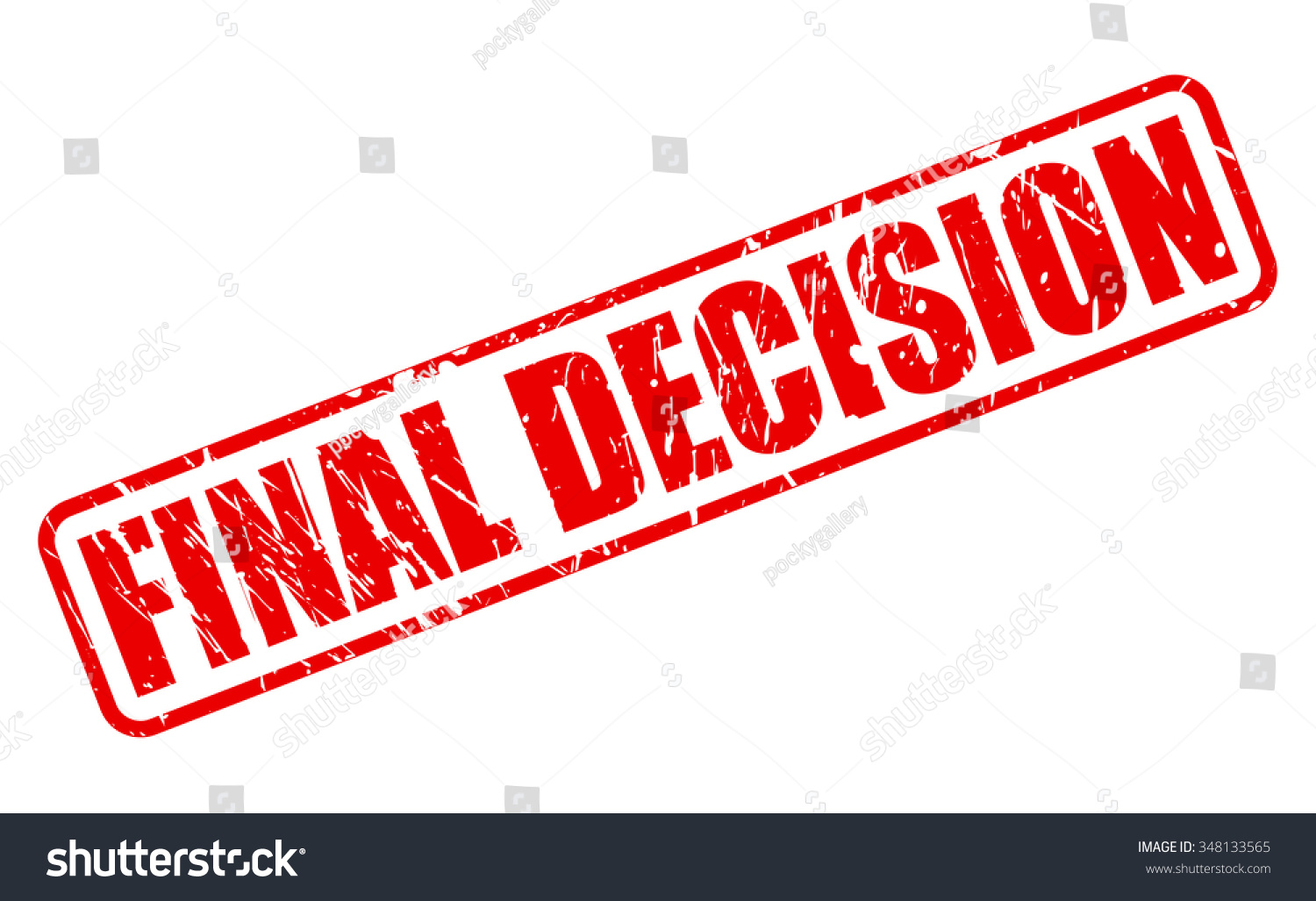 Final Decision Red Stamp Text On Stock Vector 348133565