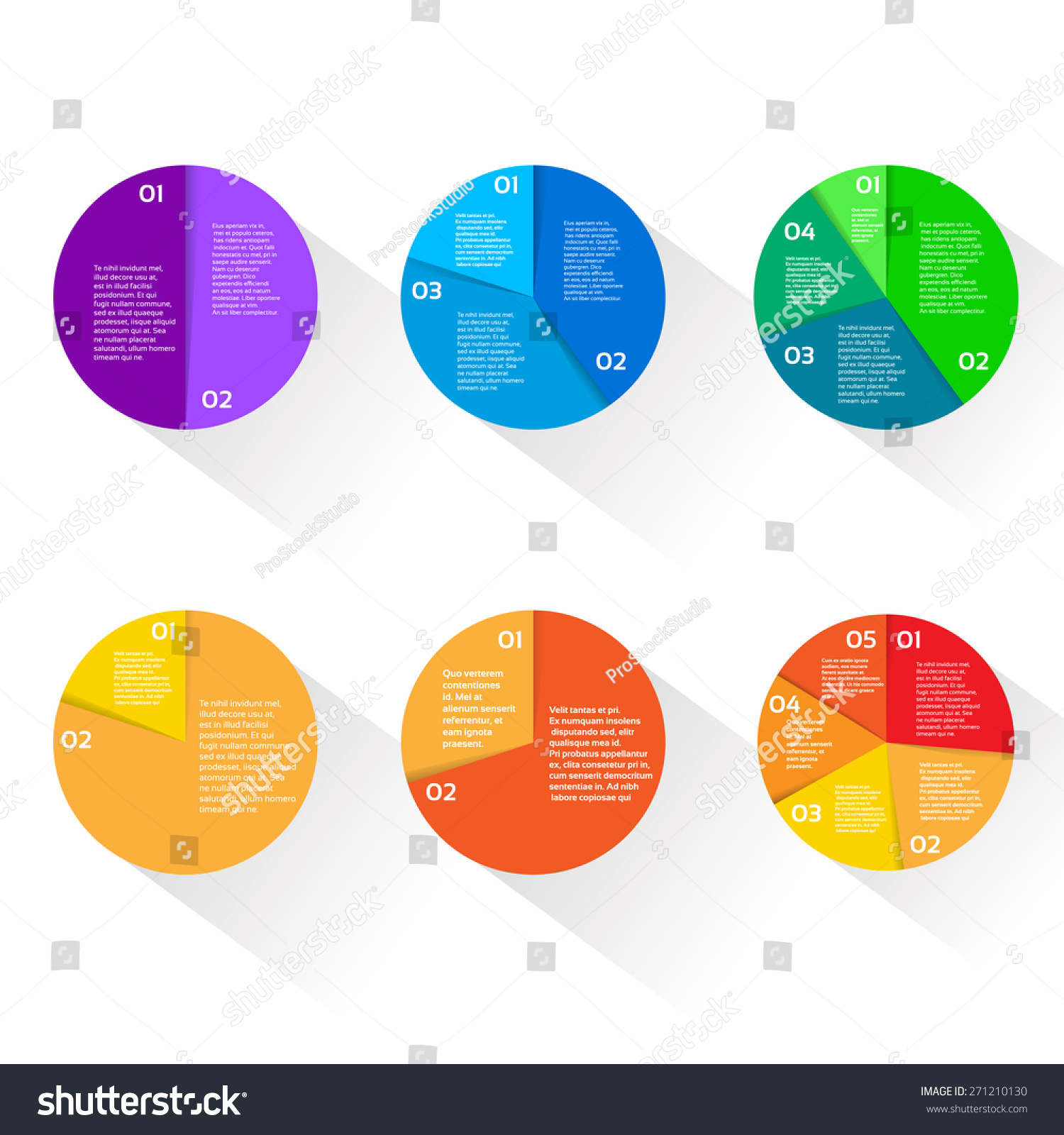 hight resolution of finance pie diagram circle infographic with financial business graph set vector illustration