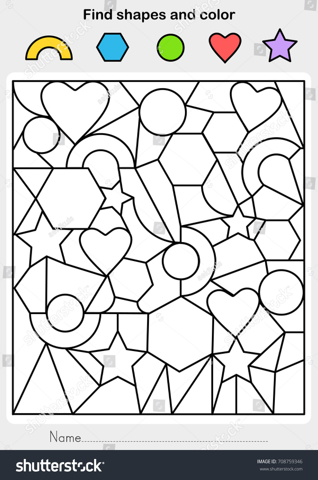 43 Worksheets For Kindergarten Math Shapes