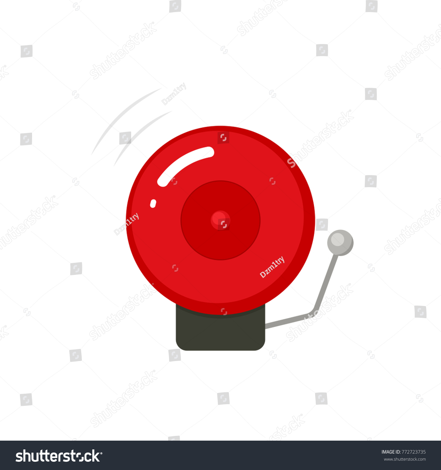 hight resolution of fire alarm bell icon vector clipart image isolated on white background