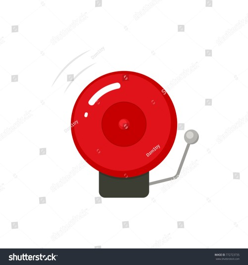 small resolution of fire alarm bell icon vector clipart image isolated on white background