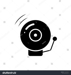 fire alarm bell silhouette icon clipart image isolated on white background [ 1500 x 1600 Pixel ]