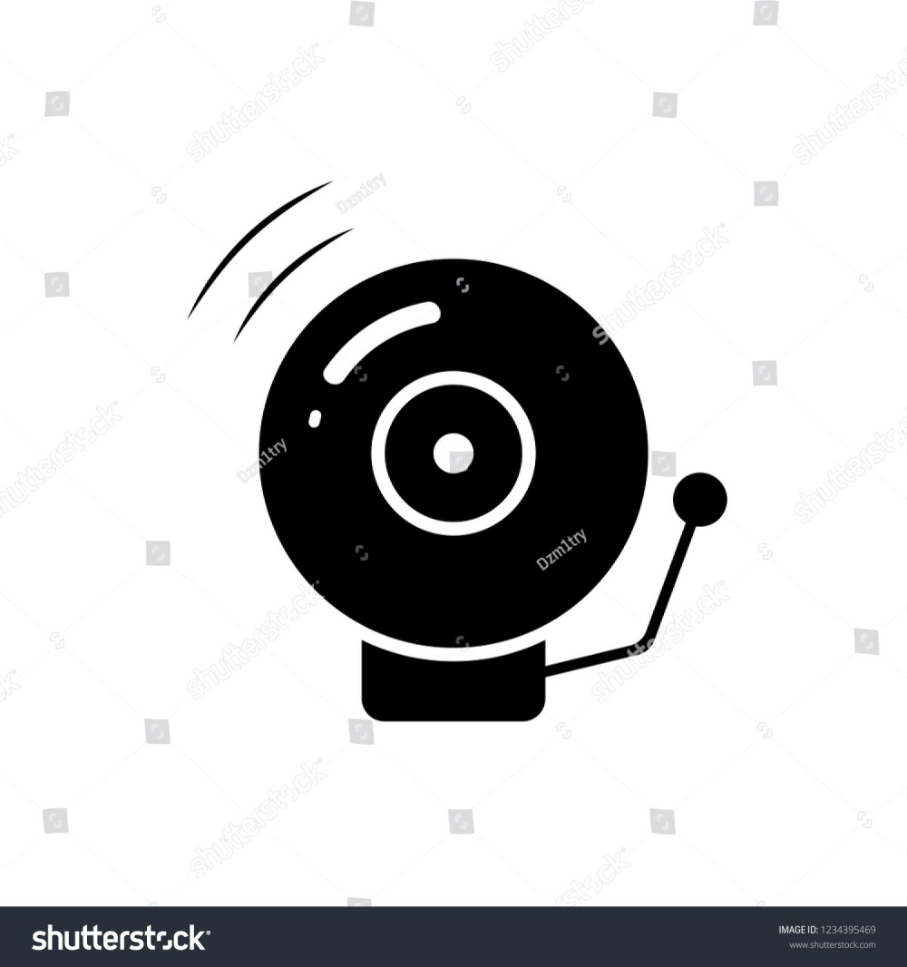 medium resolution of fire alarm bell silhouette icon clipart image isolated on white background