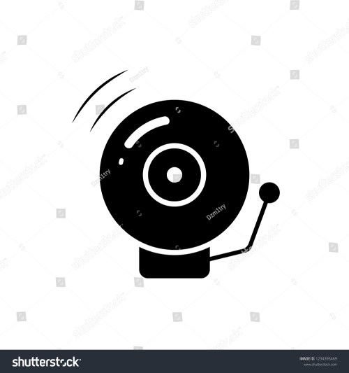 small resolution of fire alarm bell silhouette icon clipart image isolated on white background
