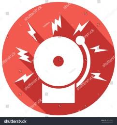fire alarm icon bell stock vector 407147992 shutterstock [ 1500 x 1600 Pixel ]