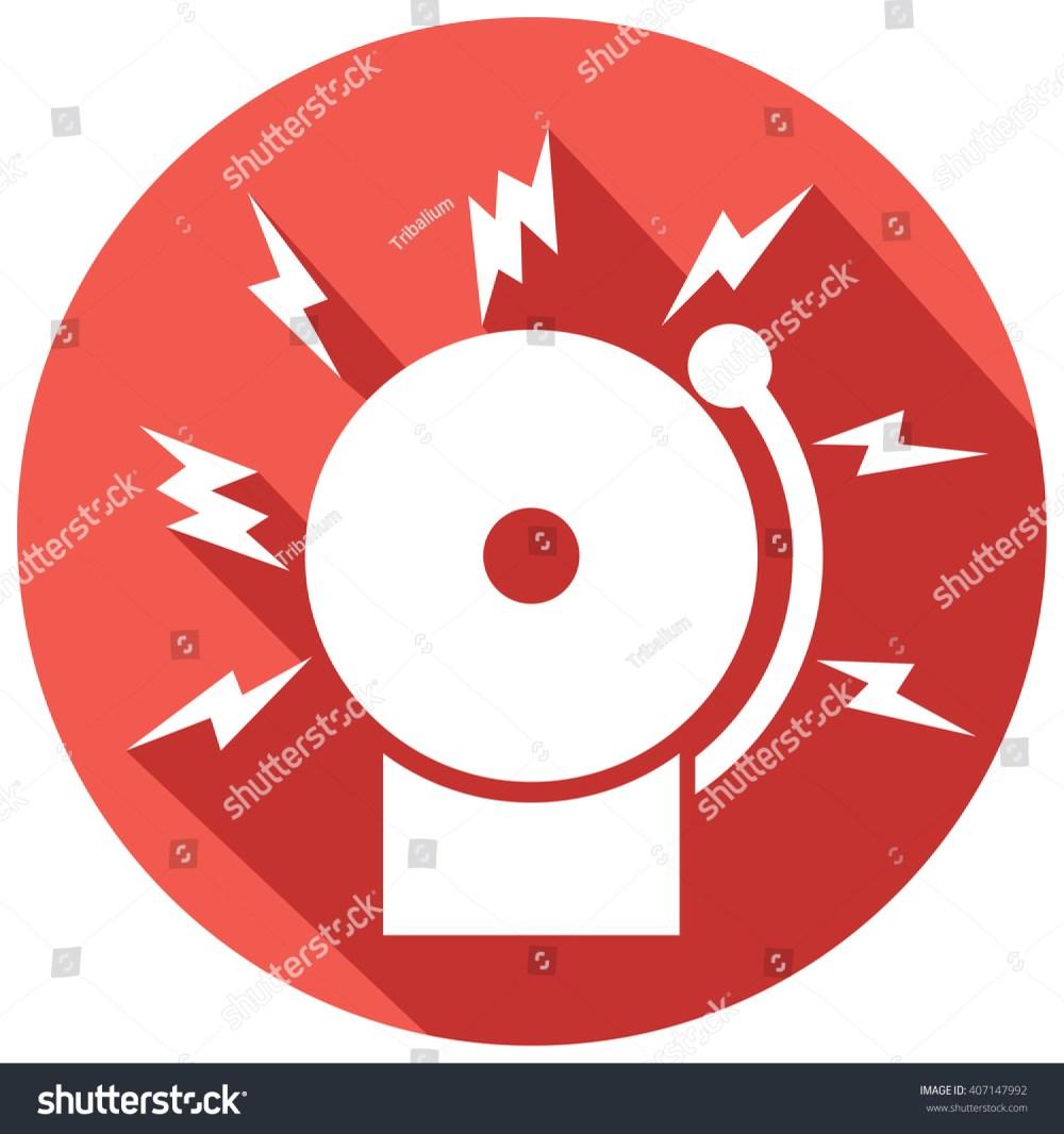 medium resolution of fire alarm icon bell stock vector 407147992 shutterstock