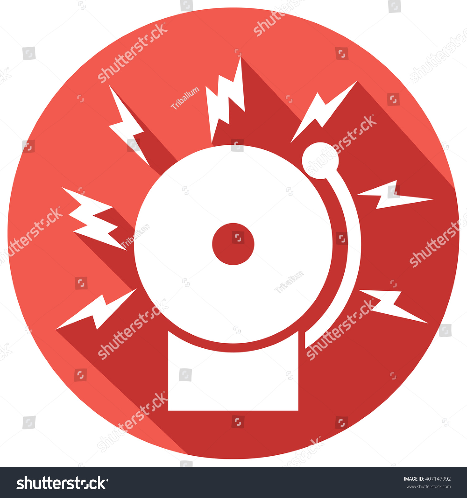 hight resolution of fire alarm icon bell stock vector 407147992 shutterstock