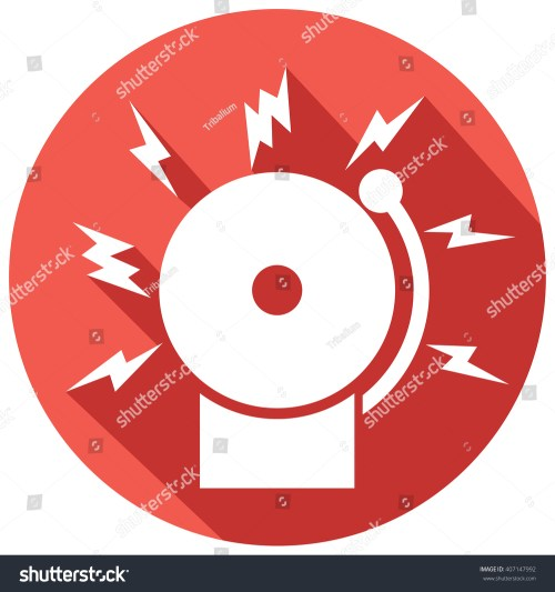 small resolution of fire alarm icon bell stock vector 407147992 shutterstock