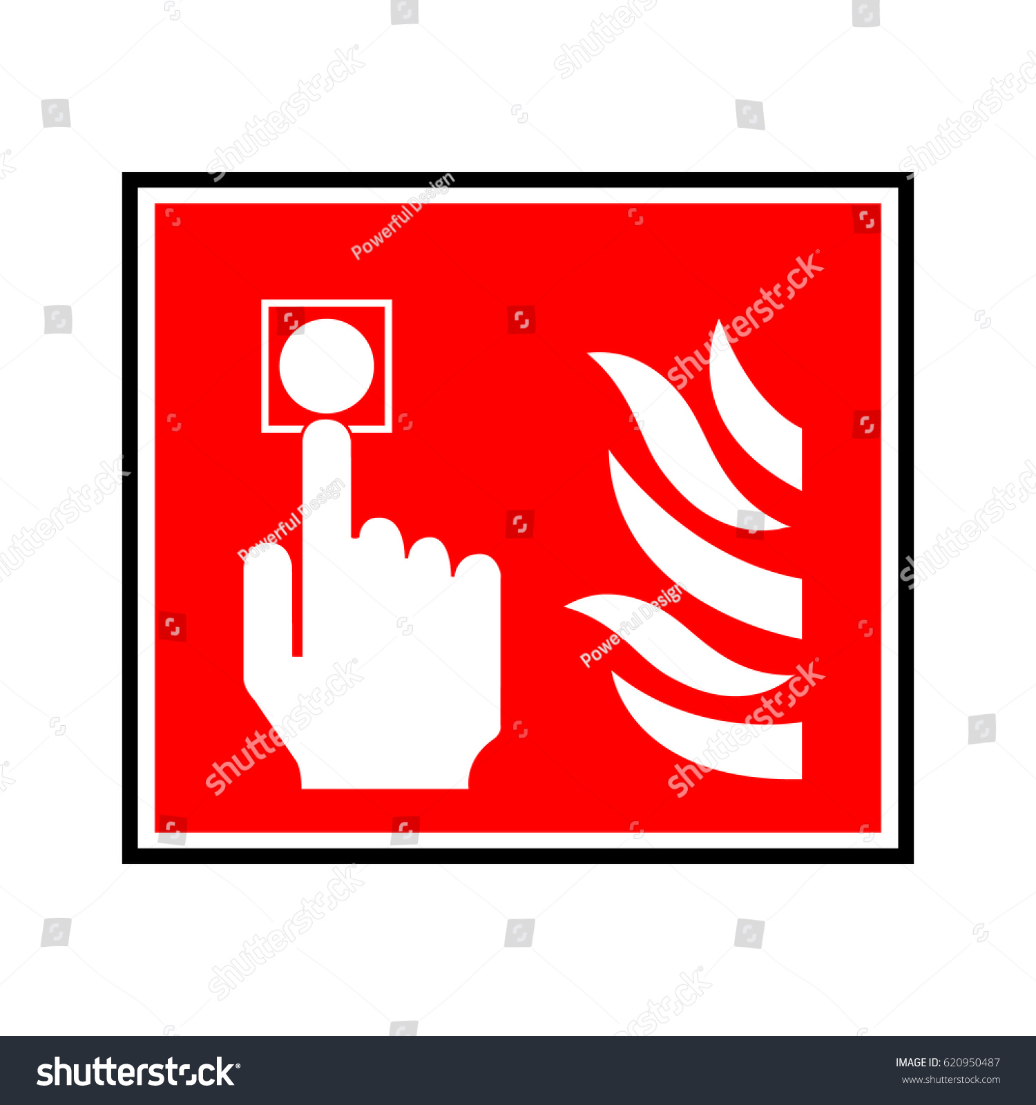 hight resolution of fire alarm sign